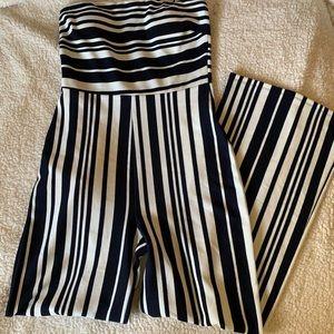 Forever 21 Sleeveless Striped Jumpsuit